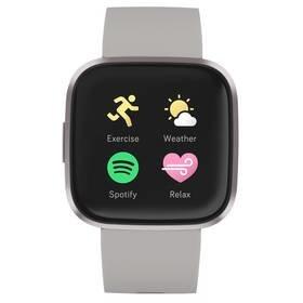 Šedé chytré hodinky Versa 2, Fitbit