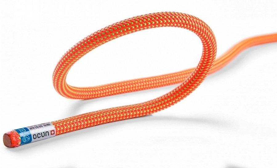 Oranžové horolezecké lano Ocún - průměr 9,1 mm