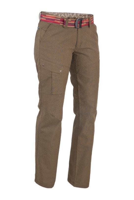 Hnědé dámské kalhoty Warmpeace - velikost L