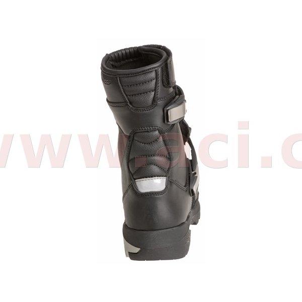 Černé nízké pánské motorkářské boty Adventure Mid, Kore - velikost 43 EU