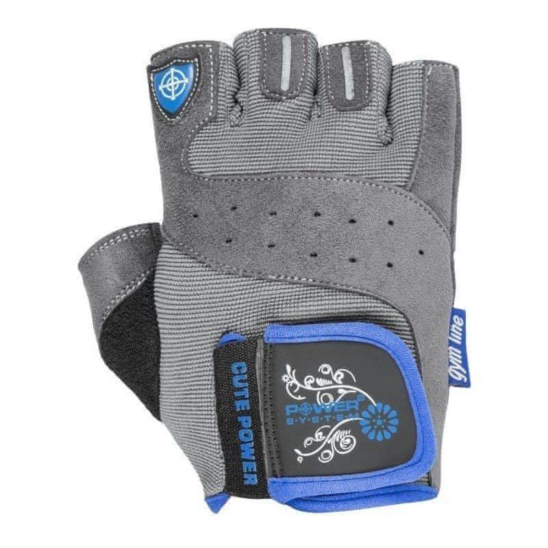Šedé fitness rukavice Power System