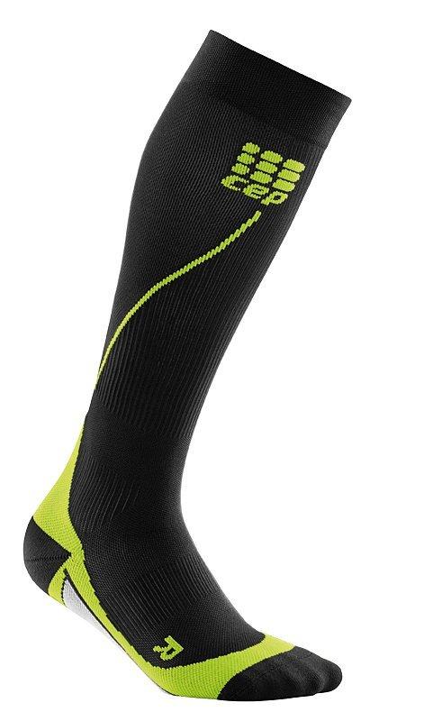 Černé vysoké pánské běžecké ponožky CEP - univerzální velikost