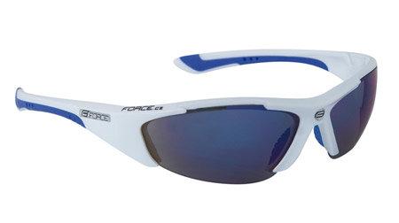 Bílo-modré cyklistické brýle Lady, Force