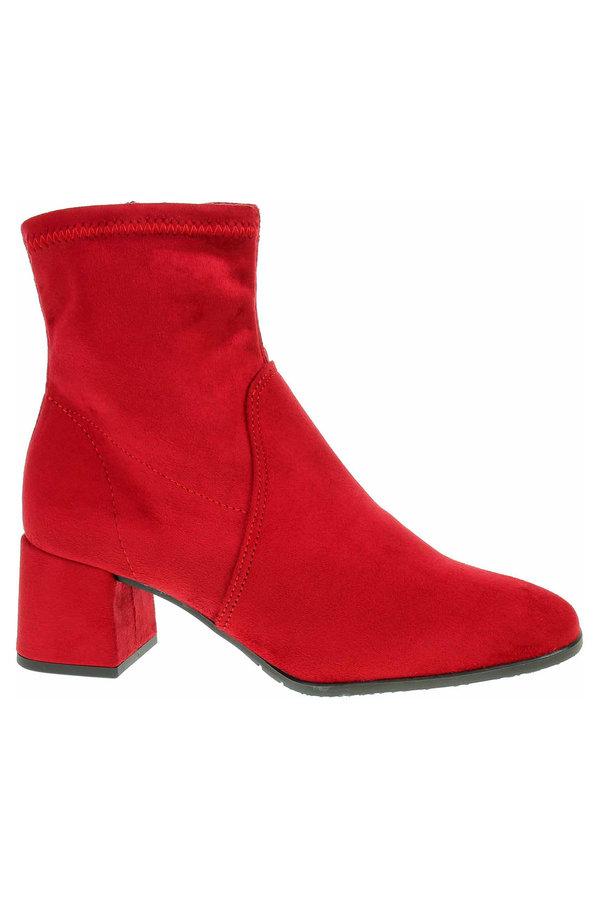 Červené dámské zimní boty Tamaris - velikost 39 EU