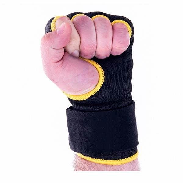 Černo-žluté boxerské rukavice Bushido - velikost S-M