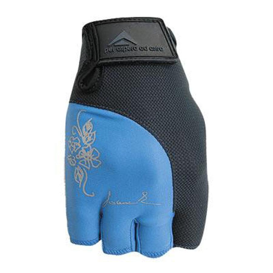 Černo-modré dámské fitness rukavice Polednik