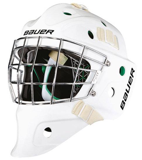 Bílá dětská brankářská maska Bauer