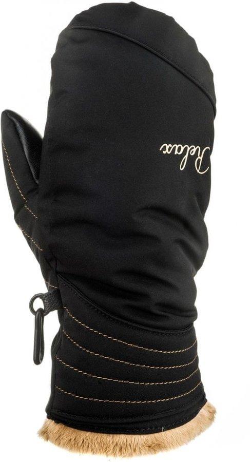 Béžovo-černé dámské snowboardové rukavice Relax - velikost M