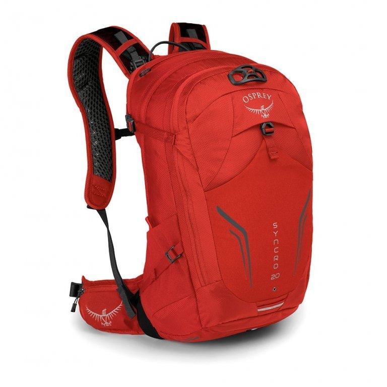 Batoh - OSPREY SYNCRO 20 batoh + pláštěnka Firebelly Red