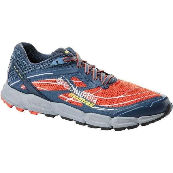 Modro-oranžové pánské běžecké boty Columbia
