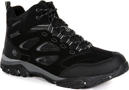 Černé nepromokavé pánské trekové boty Holcombe, Regatta