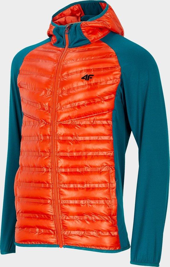 Oranžová pánská turistická bunda 4F