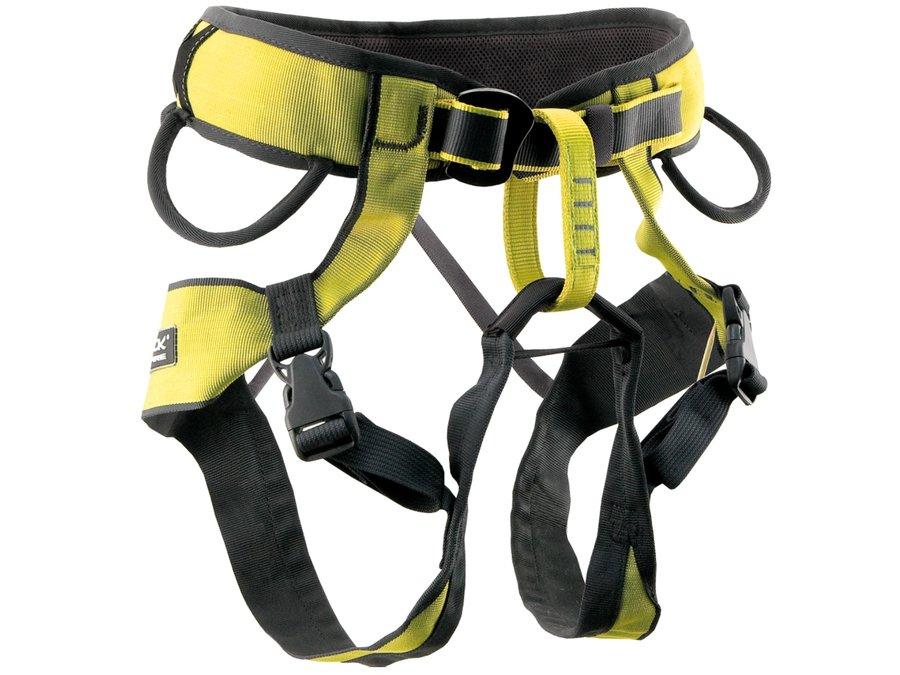 Černo-žlutý unisex horolezecký úvazek Lightning, Rock Empire