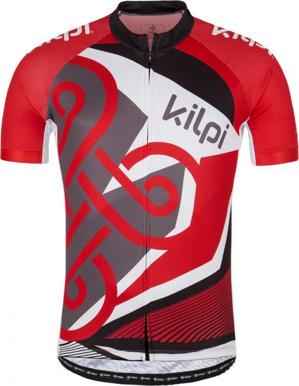 Červený pánský cyklistický dres Kilpi - velikost XS