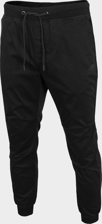 Černé pánské turistické kalhoty 4F