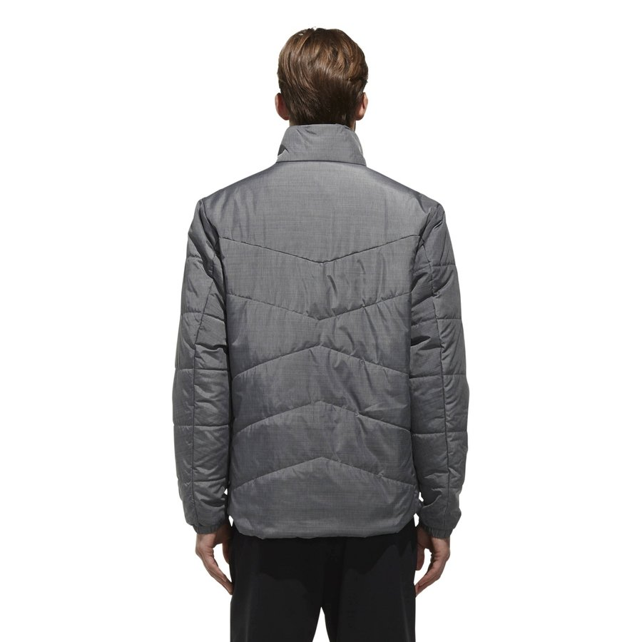 Šedá zimní pánská bunda Adidas - velikost M