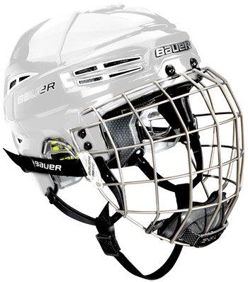 Hokejová helma - Bauer Re-Akt 100 Combo Sr. bílá M (56-59,5 cm)