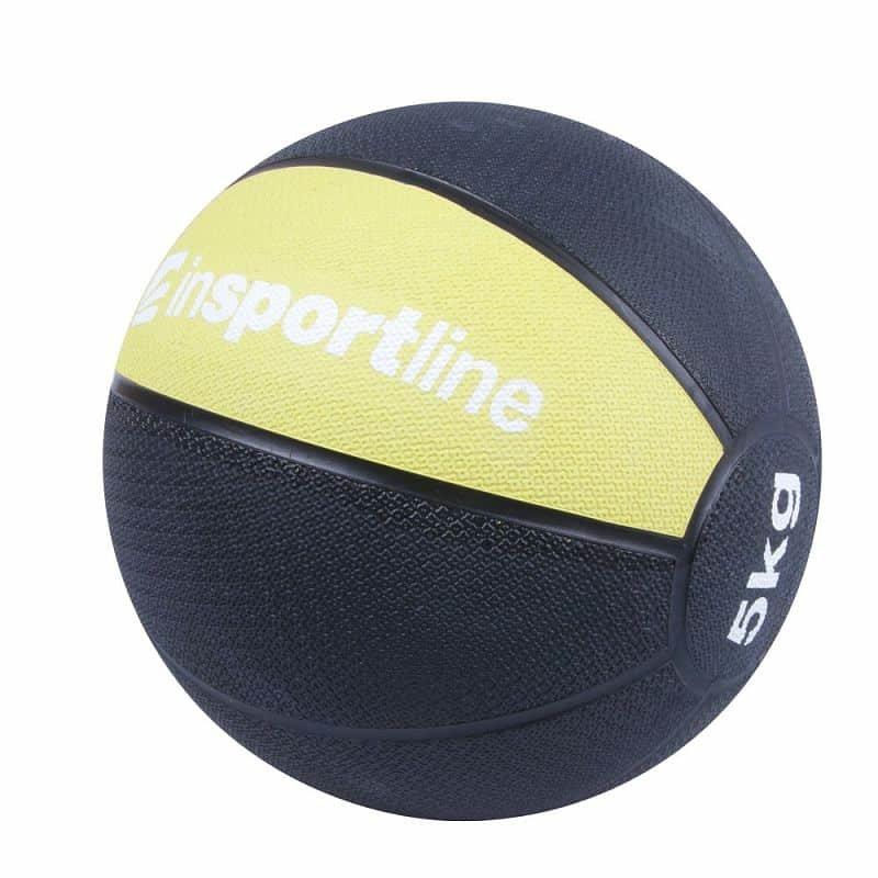 Medicinbal bez úchopů inSPORTline - 5 kg