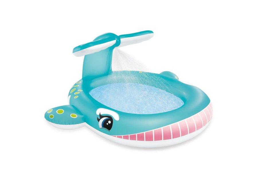 Nadzemní nafukovací dětský oválný bazén - délka 201 cm, šířka 196 cm a výška 91 cm