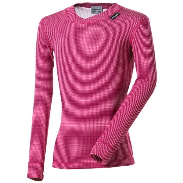 Růžové dívčí funkční tričko s dlouhým rukávem Progress - velikost 152