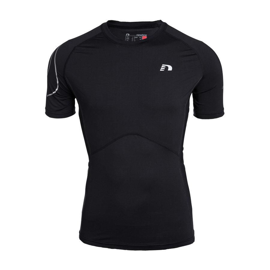 Černé unisex běžecké tričko ICONIC Compression Tee, Newline - velikost XXL