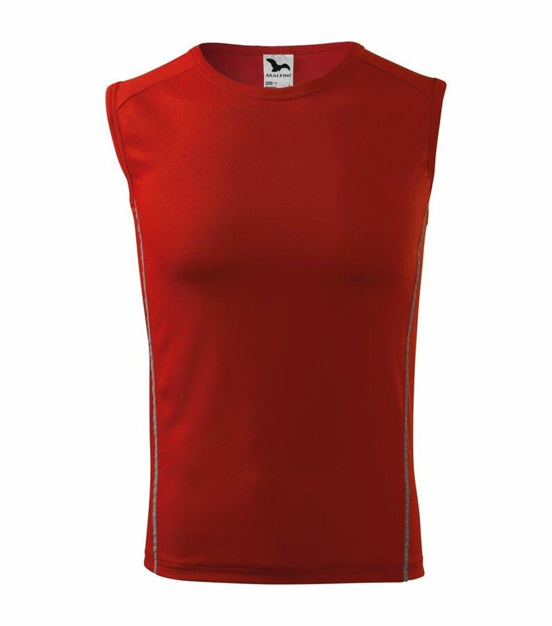 Červené pánské tričko bez rukávů Adler - velikost 146