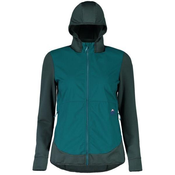 Zelená dámská bunda na běžky - větrovka Maloja - velikost S