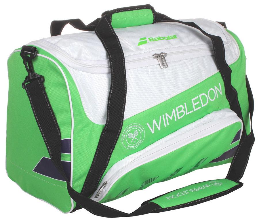 Bílo-zelená tenisová taška Babolat