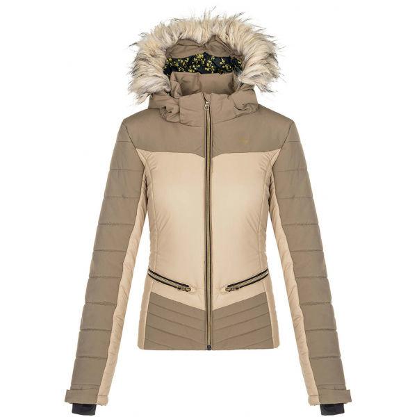 Béžová dámská lyžařská bunda Loap - velikost S