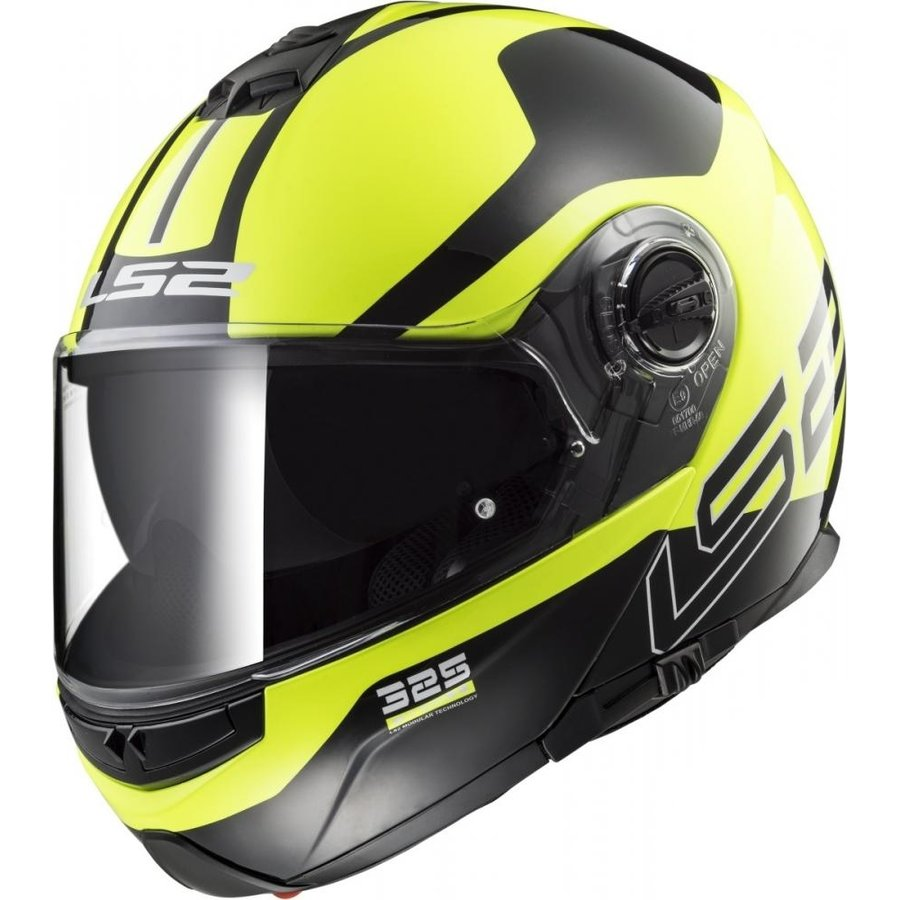 Černo-žlutá unisex helma na motorku FF325 Strobe Zone Hi-Vis, LS2