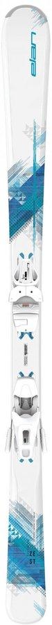Bílé dámské lyže s vázáním Elan