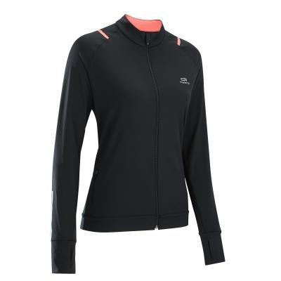 Černá běžecká bunda RUN DRY, Kalenji