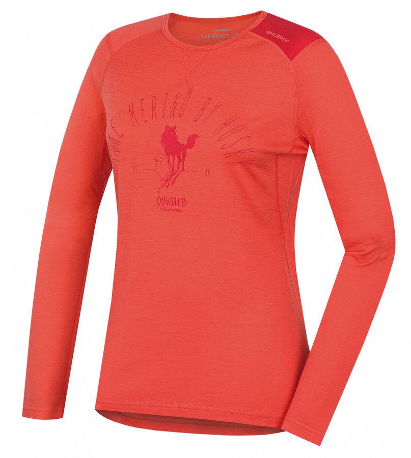 Oranžové dámské termo tričko s dlouhým rukávem Husky