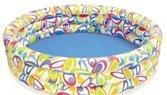 Různobarevný nafukovací dětský tříkomorový bazén Sedco - objem 481 l