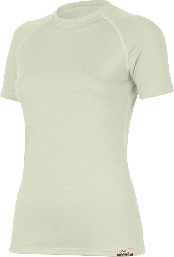 Béžové dámské tričko s krátkým rukávem Lasting