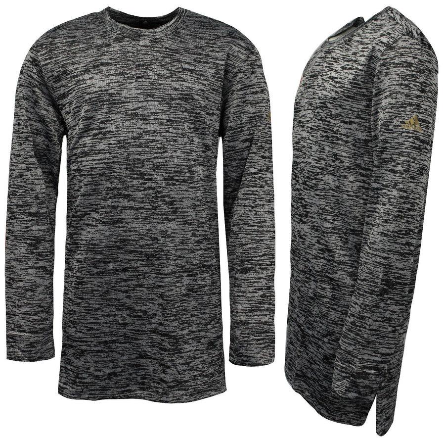 Šedé pánské tričko s dlouhým rukávem Adidas - velikost XL