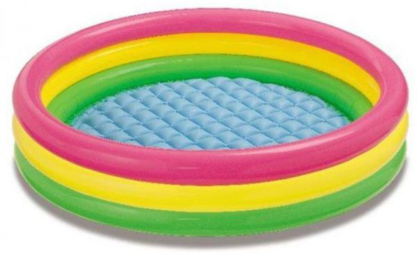 Dětský nadzemní nafukovací kruhový bazén INTEX - průměr 147 cm a výška 33 cm