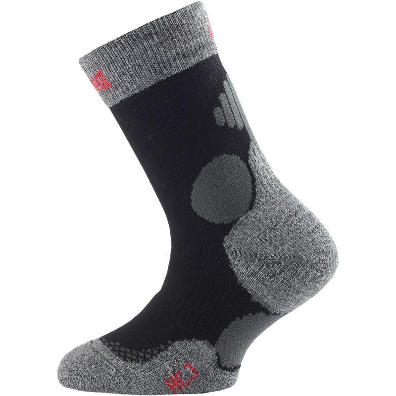 Černo-šedé dětské chlapecké nebo dívčí hokejové ponožky Lasting - velikost 34-37 EU