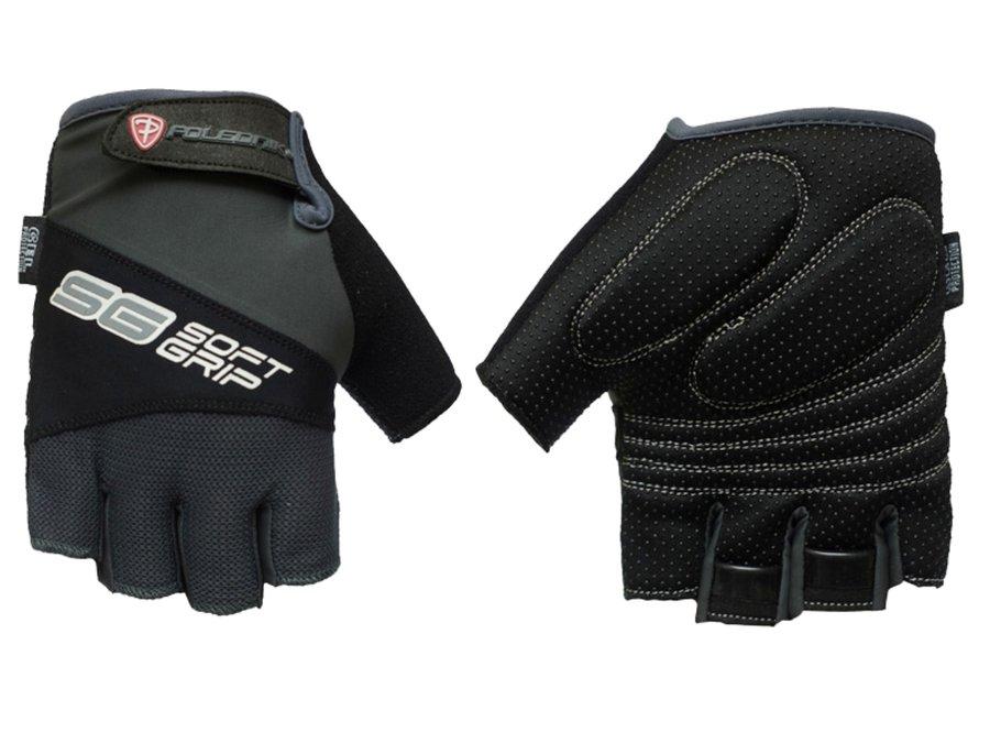 Černé letní pánské cyklistické rukavice Polednik