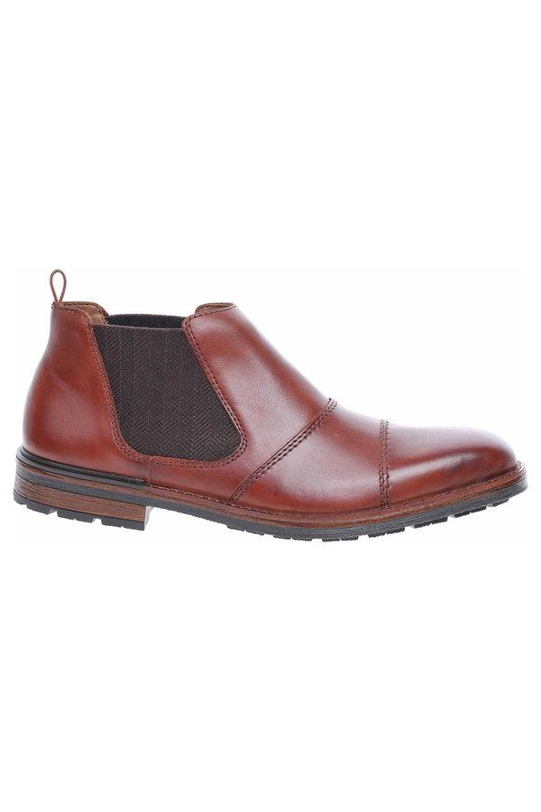 Hnědé pánské kotníkové boty Rieker