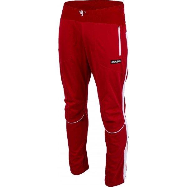 Červené pánské kalhoty na běžky Maloja - velikost L