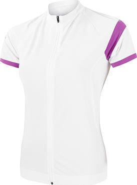 Bílý dámský cyklistický dres Sensor