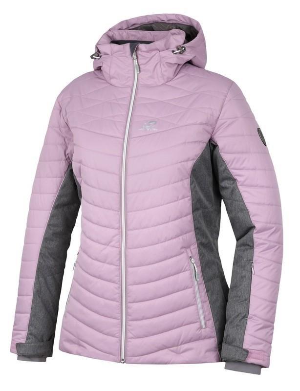 Růžovo-šedá dámská lyžařská bunda Hannah - velikost 34