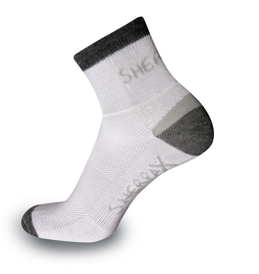 Bílo-šedé kotníkové pánské ponožky Olympus, Sherpax - velikost 35-38 EU