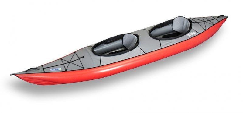 Červeno-šedý nafukovací kajak pro 2 osoby Swing II, Gumotex
