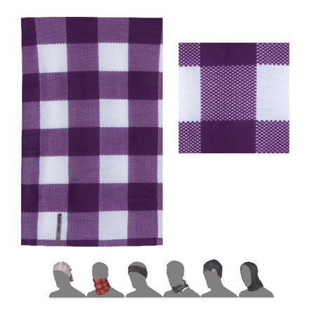 Bílo-fialový multifunkční šátek Sensor