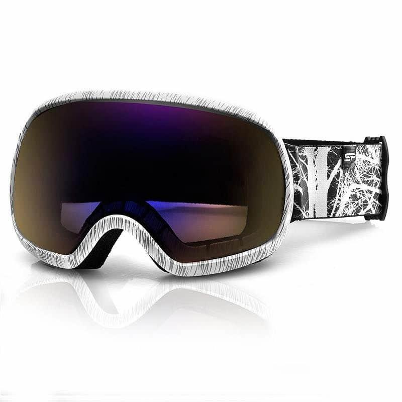 Bílo-šedé lyžařské brýle Spokey