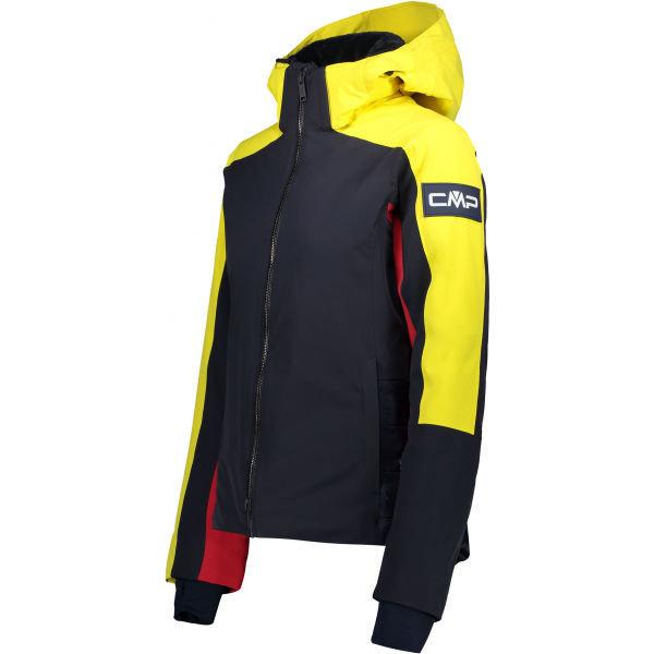 Černo-žlutá dámská lyžařská bunda CMP