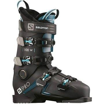 Černé dámské lyžařské boty Salomon - velikost vnitřní stélky 27 cm