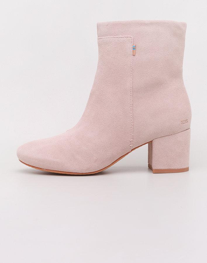 Růžové dámské kotníkové boty Toms